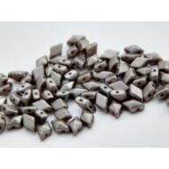 Gray cseh diamonduo üveggyöngy 5x8 mm