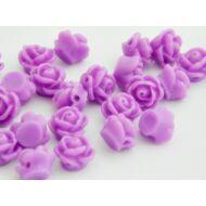 Viola virág gyantagyöngy 9x7 mm