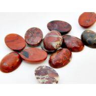 Breccsa jáspis ásvány kaboson 18x26 mm