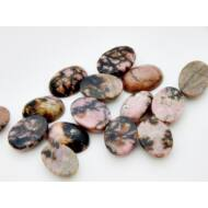 Rodonit ásvány kaboson 13x18 mm