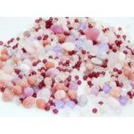 Lágy rózsa CSEH forma üveggyöngy mix
