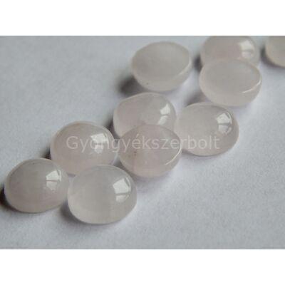 Rózsakvarc ásvány kaboson 10 mm