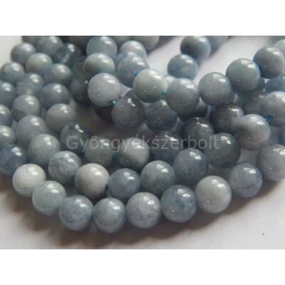 Aquamarine ásványgyöngy 8 mm
