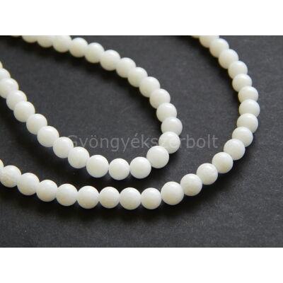 Fehér jáde ásványgyöngy 4 mm