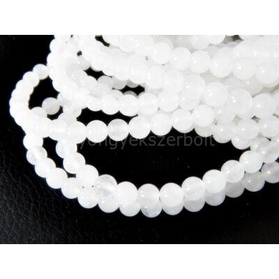 Fehér jáde ásványgyöngy 6 mm