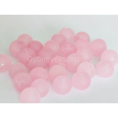 Frosted rózsaszín jáde ásványgyöngy 8 mm
