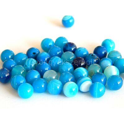Kék csíkos achát ásványgyöngy 8 mm