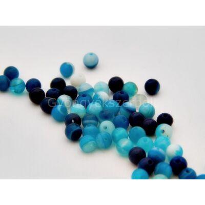 Kék csíkos achát ásványgyöngy 4 mm