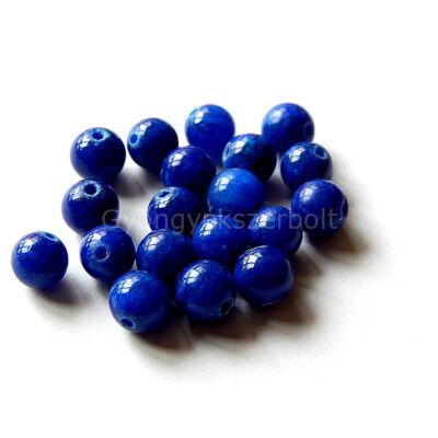 Kék jade ásványgyöngy 6 mm