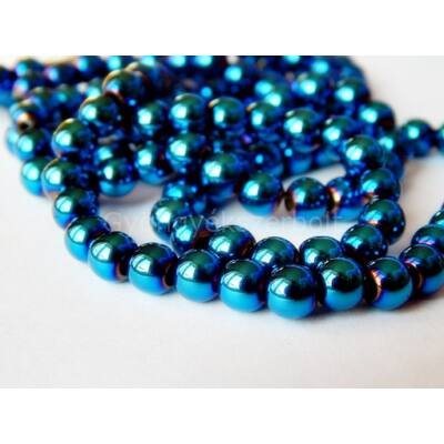 Montana kék hematit ásványgyöngy 6 mm