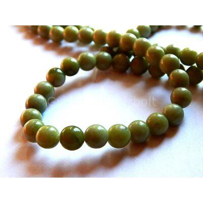 Olíva jade ásványgyöngy 8 mm