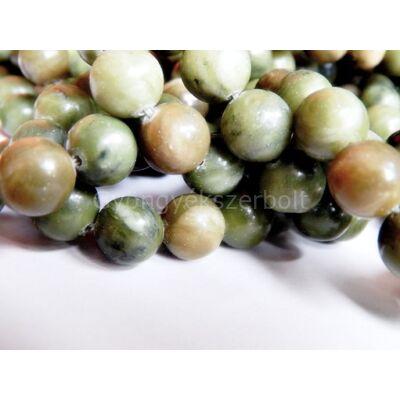 Olíva jade ásványgyöngy 10 mm