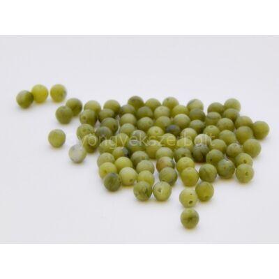 Olíva jáde ásványgyöngy 4 mm