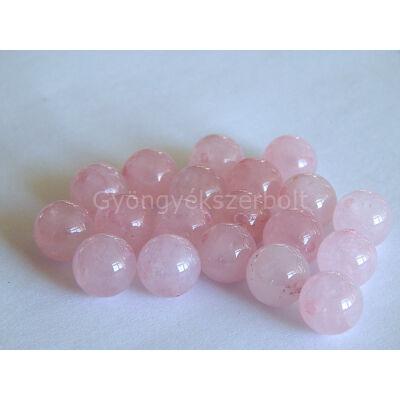 Rózsakvarc ásványgyöngy 10 mm