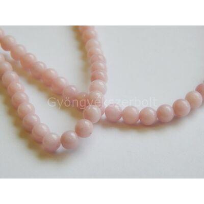 Rózsaszín jáde ásványgyöngy 4 mm