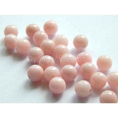 Rózsaszín jáde ásványgyöngy 8 mm