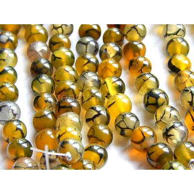Sárkányér achát ásványgyöngy oliva 8 mm