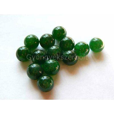 Zöld jade ásványgyöngy 10 mm