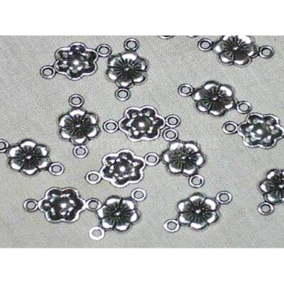 Antik ezüst hatszirmú virág összekötő