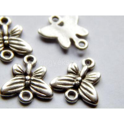 Antik ezüst lepke összekötő