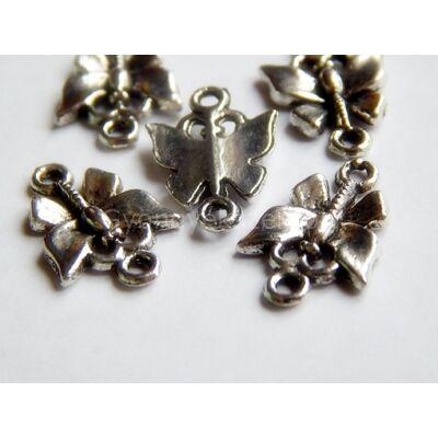 Antik ezüst pillangó összekötő