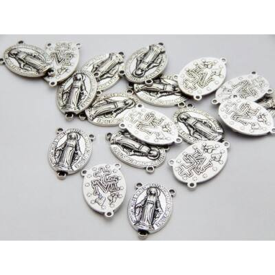 Antik ezüst rózsafüzér összekötő