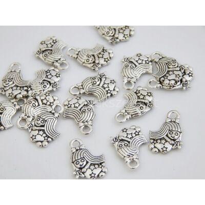 Antik ezüst tündérlány charm
