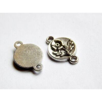 Antik ezüst virágos érme összekötő