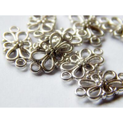Antik ezüst virágos összekötő