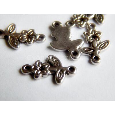 Antik ezüst virágszál összekötő