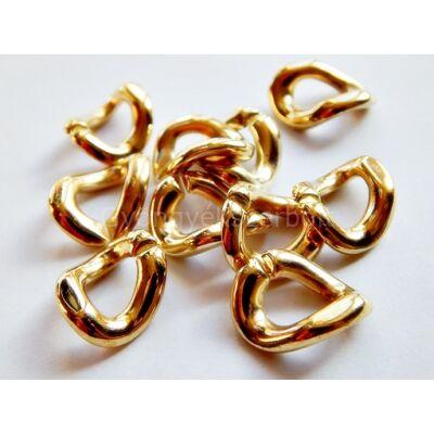 Arany CCB nyitható láncszem 19x15 mm