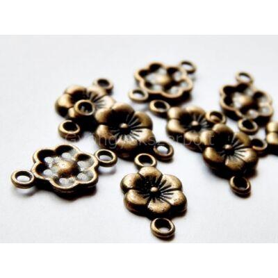 Bronz hatszirmú virág összekötő