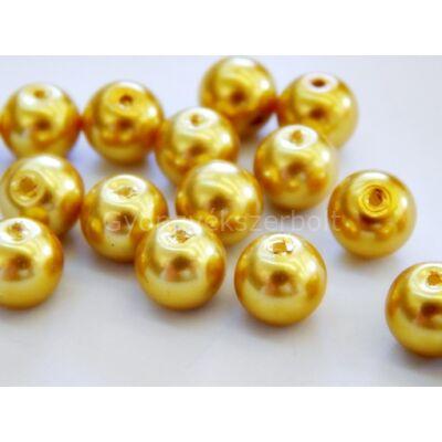Arany üveg TEKLA gyöngy 8mm