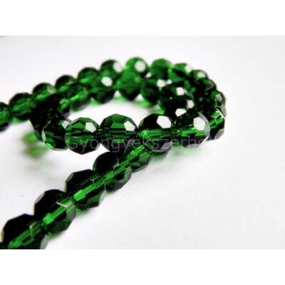 Sötét zöld csiszolt üveggyöngy 8 mm