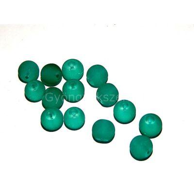 Smaragd jeges hatású üveg gyöngy 10mm