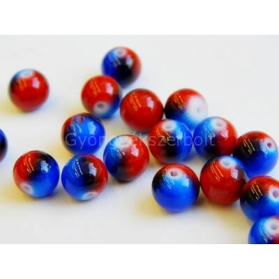 Berry mohito koktél festett üveggyöngy 8 mm