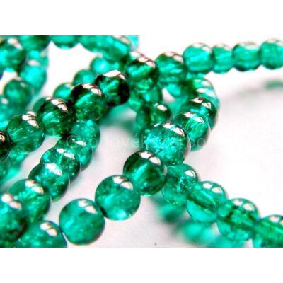 Smaragd roppantott üveggyöngy 6mm