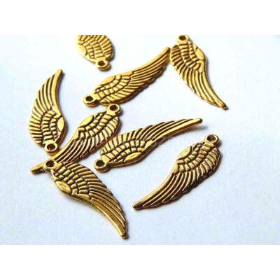 Antik arany angyalszárny charm