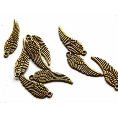 Antik bronz angyalszárny charm