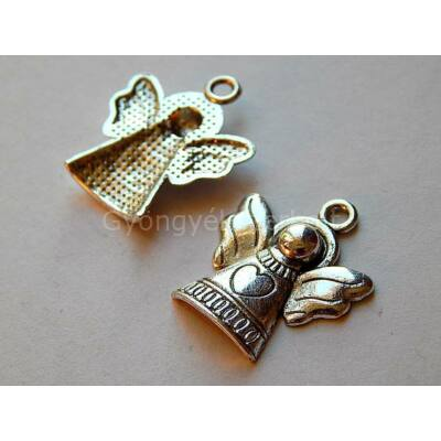 Antik ezüst angyal charm A1