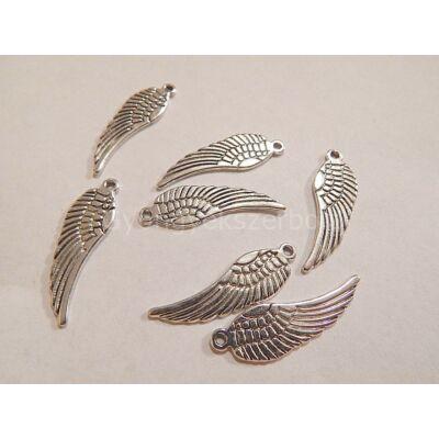 Antik ezüst angyalszárny charm