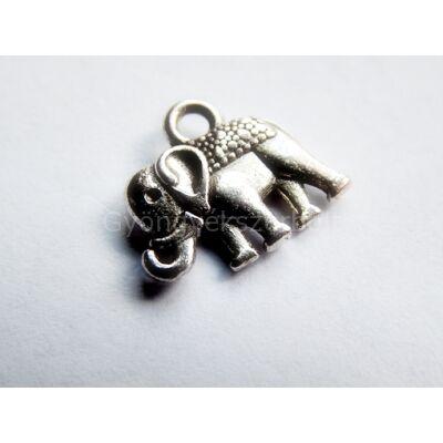 Antik ezüst elefánt charm