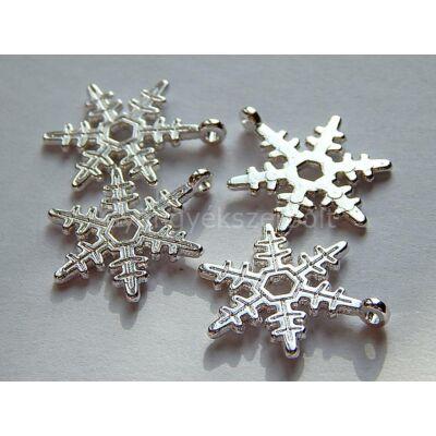 Ezüst hópehely medál 24 mm