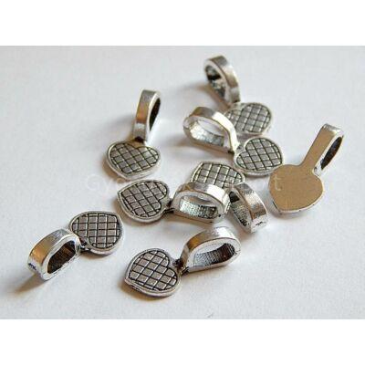 Antik ezüst szív ragasztható medálalap