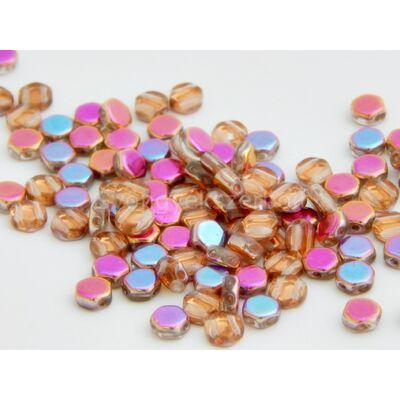 Rainbow cseh HEXAGON üvegyöngy 6,5x6,5 mm
