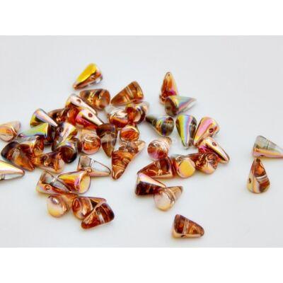 Pinky rosegold cseh tüske gyöngy 5x8 mm