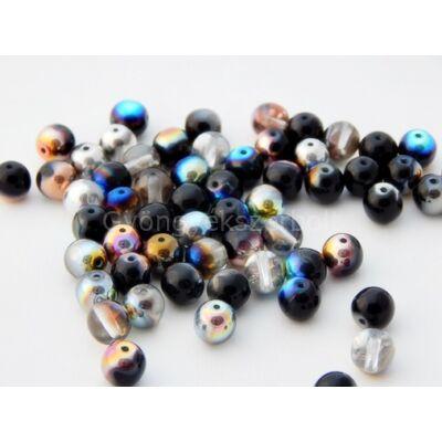 Colours cseh préselt gömb üveggyöngy 8 mm