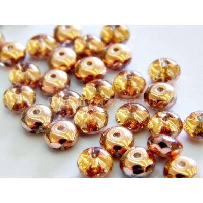 Rosegold CSEH csiszolt fánk üveggyöngy 7 mm