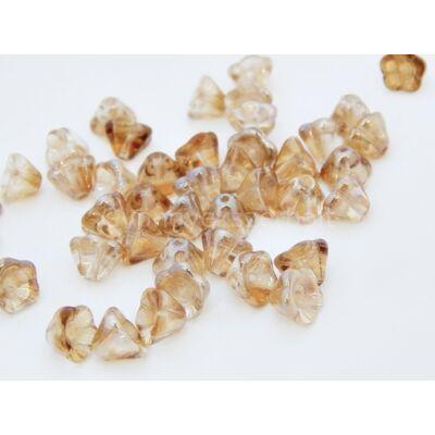 Calvados cseh harangvirág gyöngy 6x8 mm