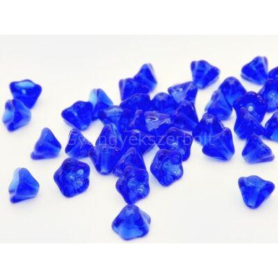 Sapphire cseh harangvirág gyöngy 6x8 mm